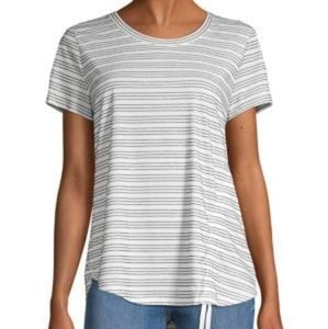 Style & Co. Striped High Low Hem Top NWOT